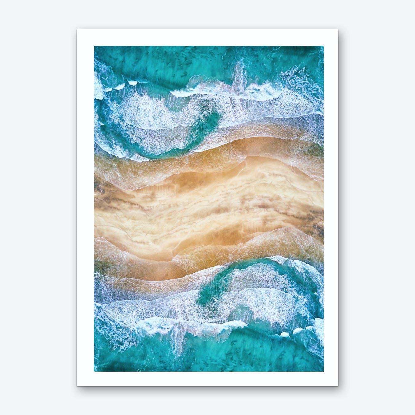 Tropical V - Beach Waves I Art Print