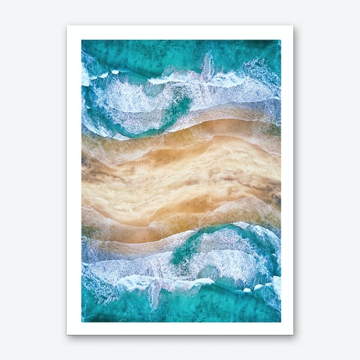 Tropical V - Beach Waves I Art Print
