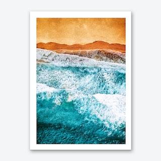 Tropical VI - Beach Waves II Art Print