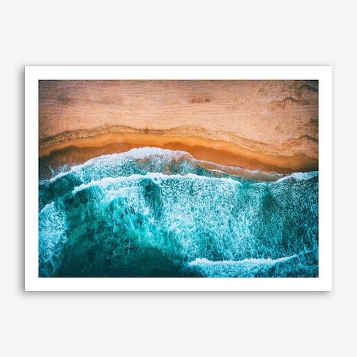 Tropical VII - Beach Waves III Art Print