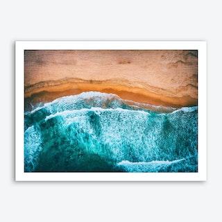 Tropical VII - Beach Waves III Art Print