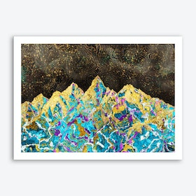 Digital Painting - Mountain Illustration I Art Print