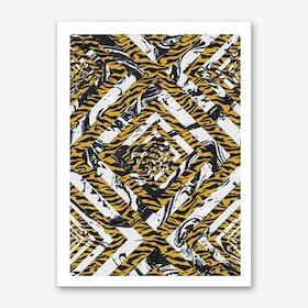 Wild Geometric Marble Art Print