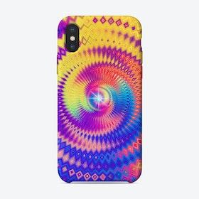 Abstract Colorful Diamond Shape Circular Design iPhone Case