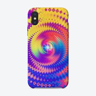Abstract Colorful Diamond Shape Circular Design iPhone Case