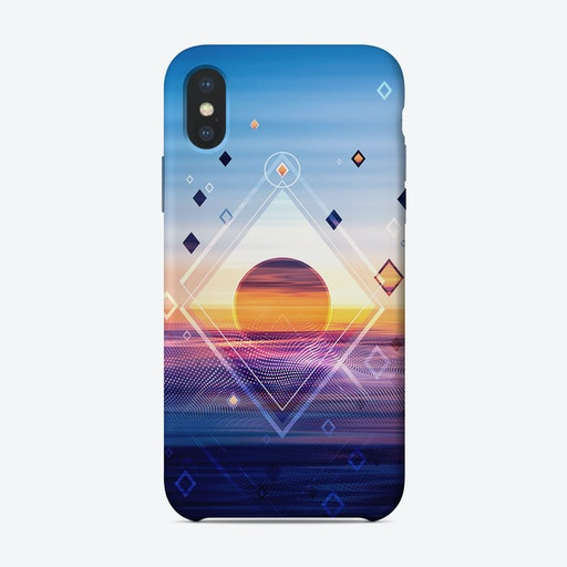 Abstract Geometric Collage II iPhone Case