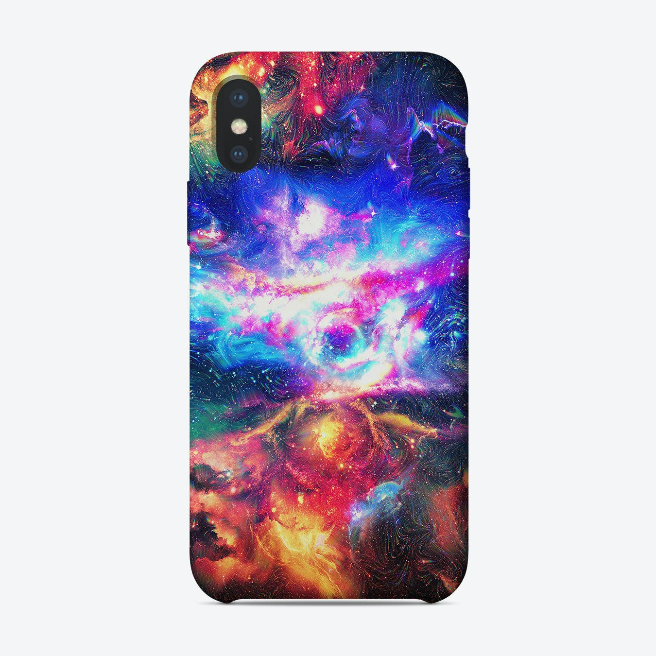 Colorful Chaotic Galaxy iPhone Case
