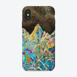 Gold Mountain Illustration I iPhone Case