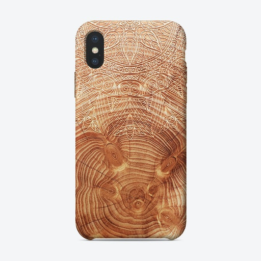 Mandala Wood I iPhone Case