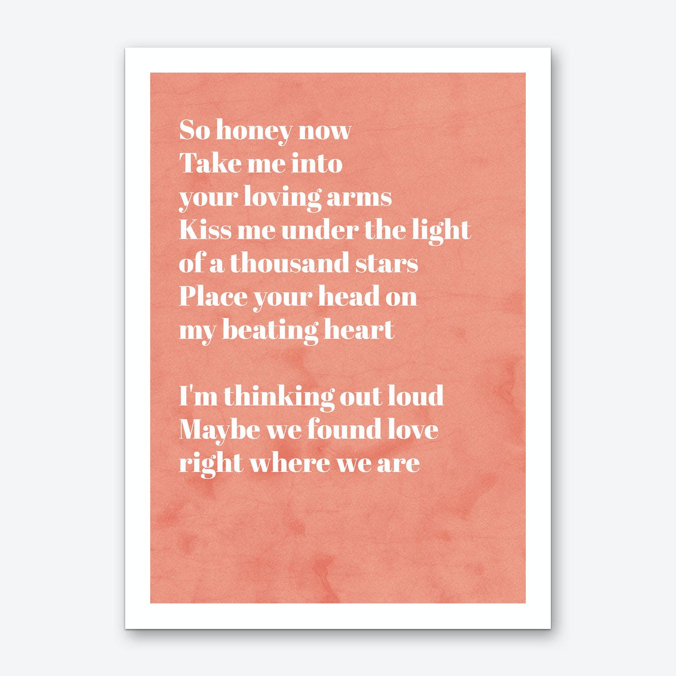 Thinking Out Loud Poem Art Print