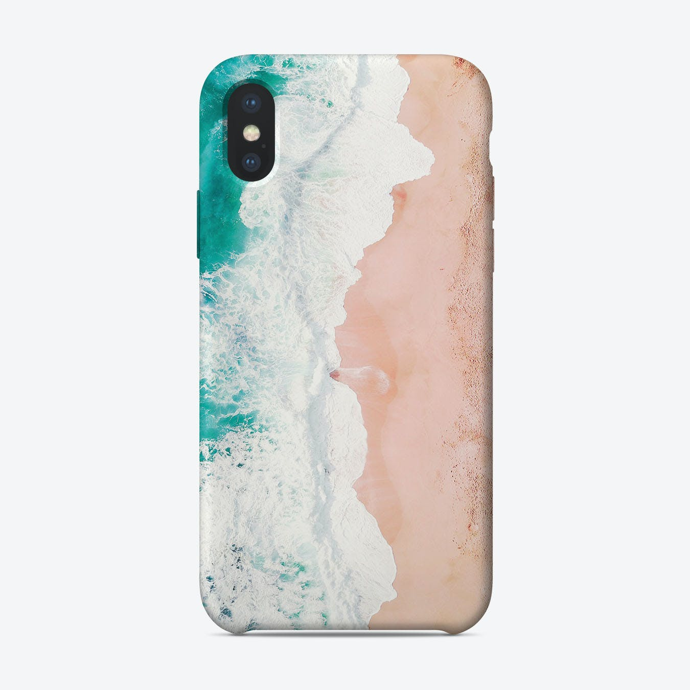 Beach waves iPhone Case