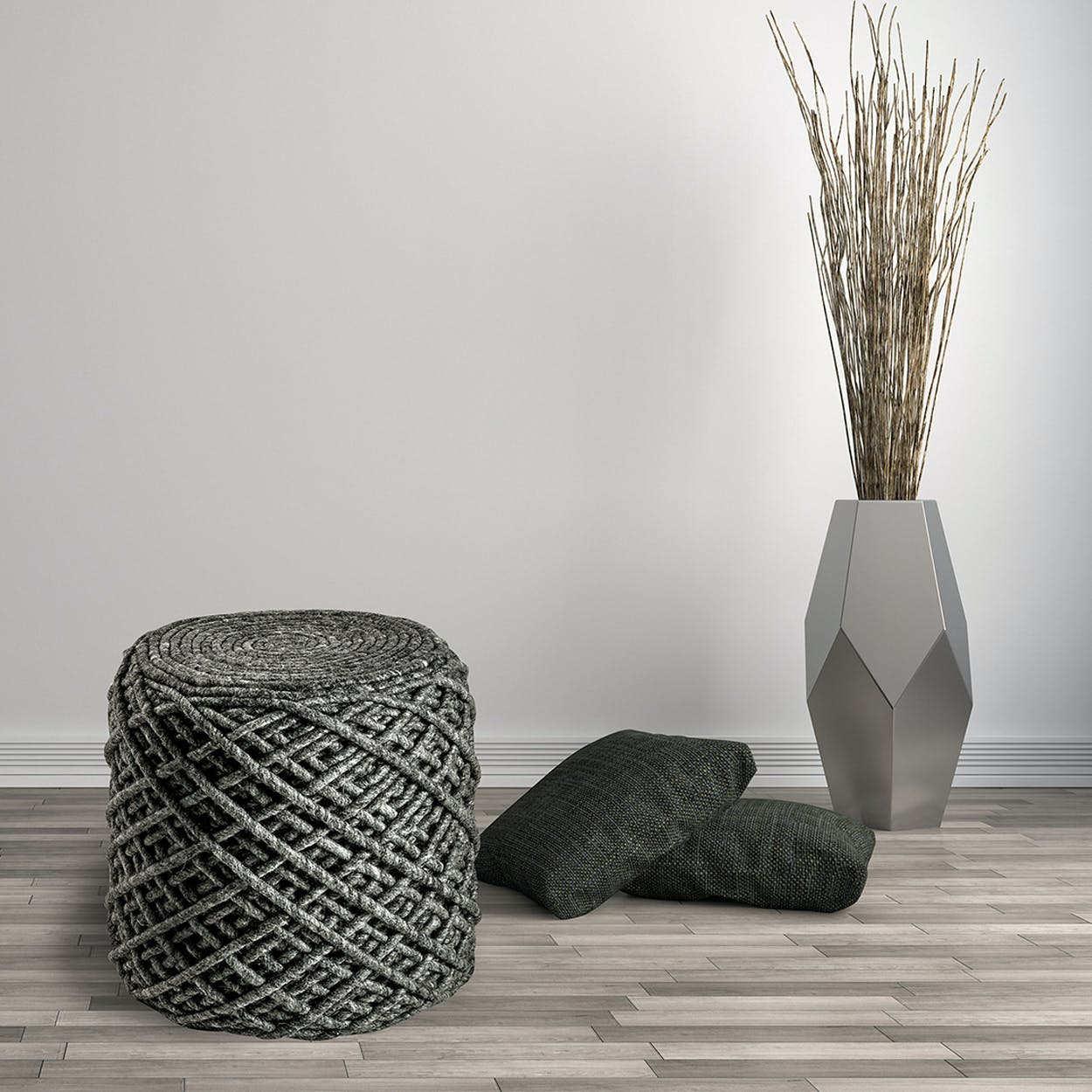 Pouf Royal 888 Graphite Rug