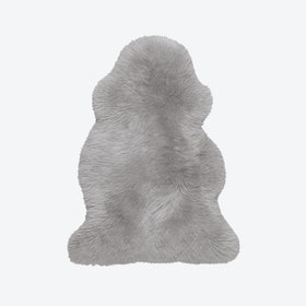 Premium Sheepskin 100 Rug in Grey
