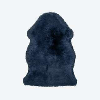 Premium Sheepskin 100 Rug in Indigo