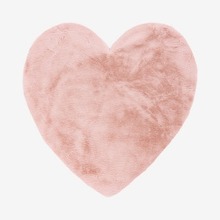 My Luna 859 Heart Rug - Powder Pink