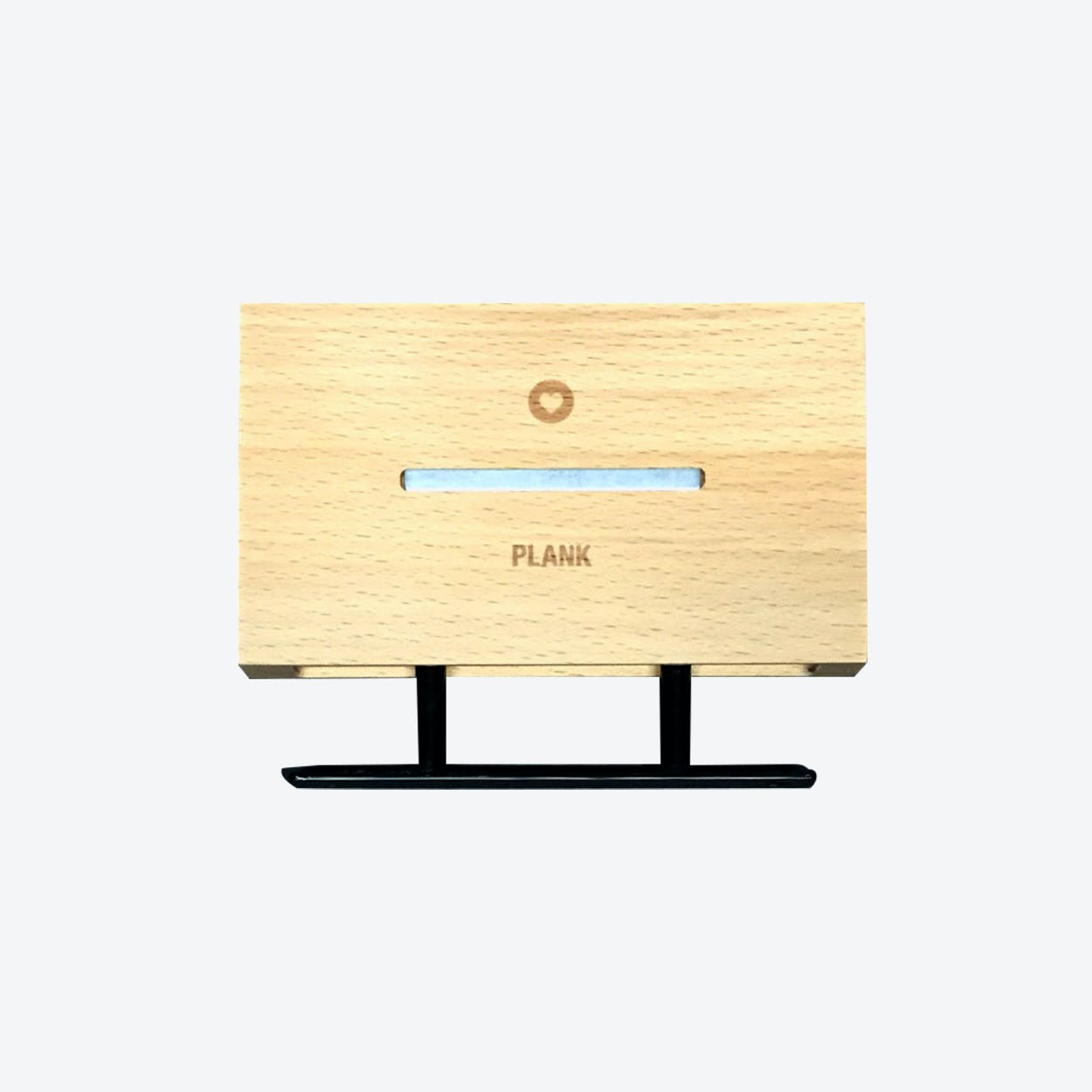 Plank Floating Shelf - Cell Phone & Key Holder in Natural Wood