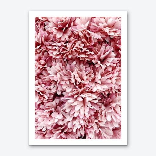 Pink Flowers Bouquete Art Print