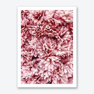 Pink Flowers Bouquete Art Print