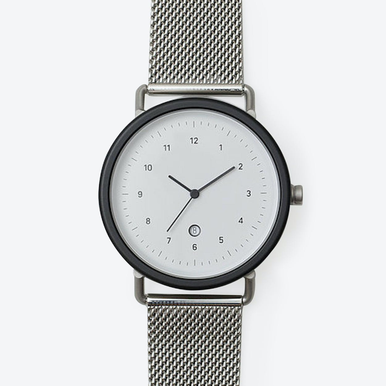 SS01 Watch (BLK/ SIL CASE/ SIL M.STRAP)
