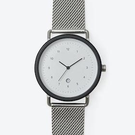 SS01 Watch (BLK/ SIL CASE/ SIL M.STRAP)