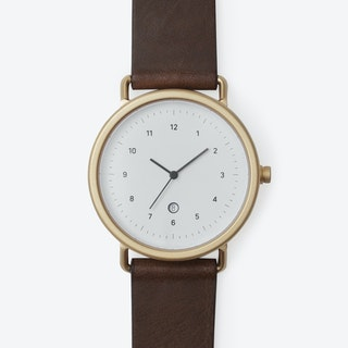 G503 Watch (GLD/ GLD CASE/ CHO STRAP)
