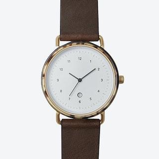 G510 Watch (L.TUR/ GLD CASE/ CHO STRAP)