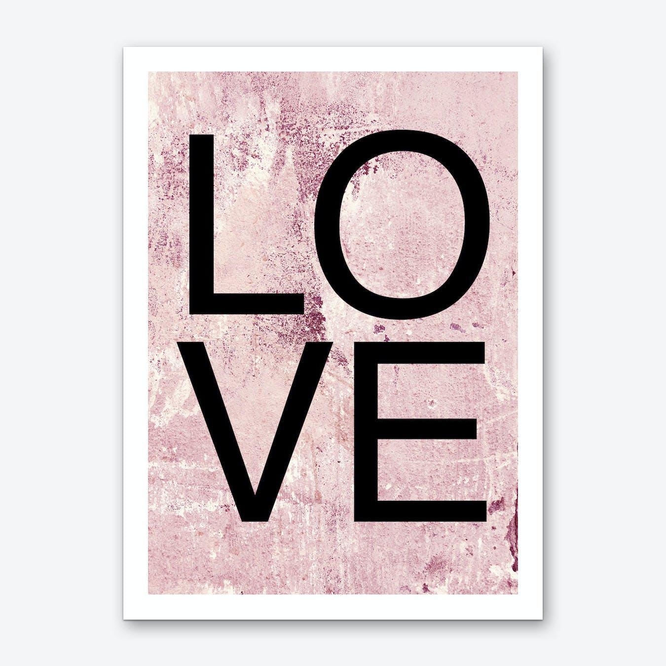 I Love You X Art Print