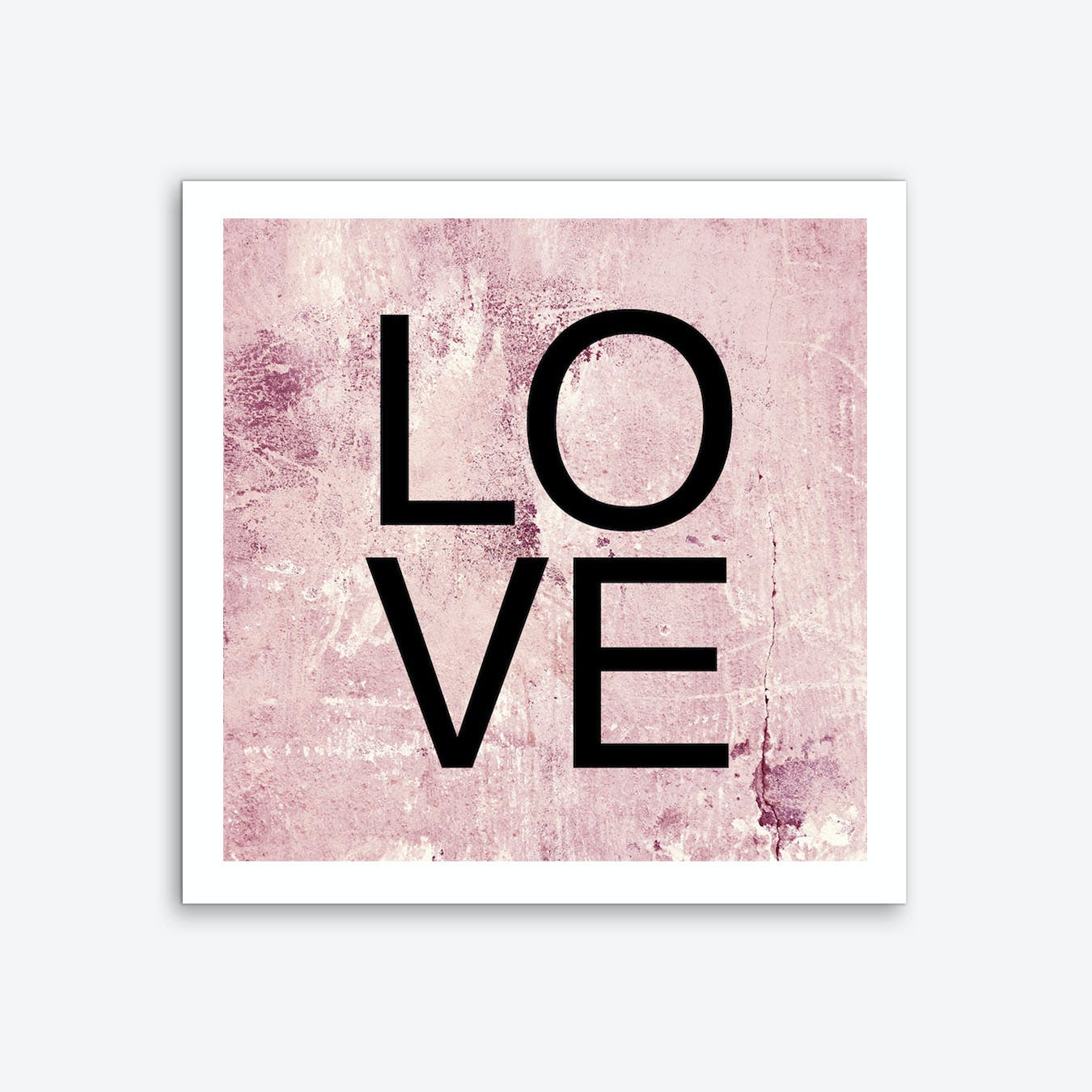 I Love You Square Art Print
