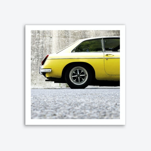 Mellow Yellow Square Art Print