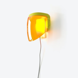 Moto - Wall Lamp with Plug - Optical Orange