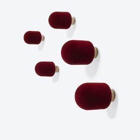 Micro Coat Hooks - Red