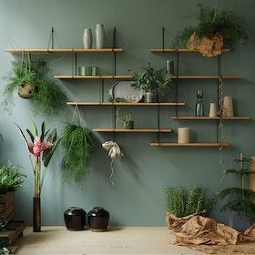 LINK Shelf, Setup 1, in Oak/Black