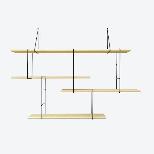 LINK Shelf, Setup 1, in Ash/Black