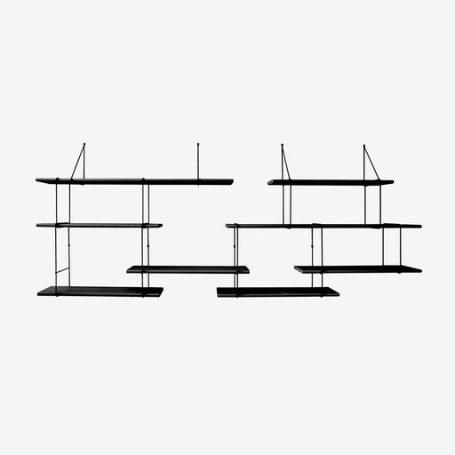 Link Shelf Duo - Black Ash Wood/Black Brackets