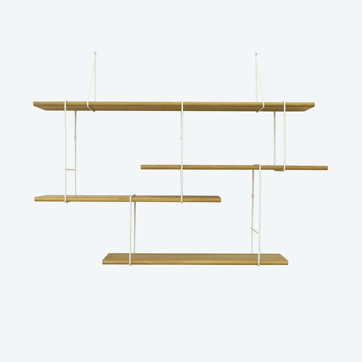 LINK Shelf, Setup 1, in Oak/White