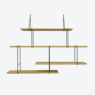 LINK Shelf, Setup 2, in Oak/Black