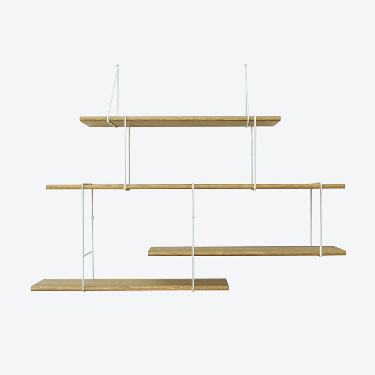 LINK Shelf, Setup 2, in Oak/White