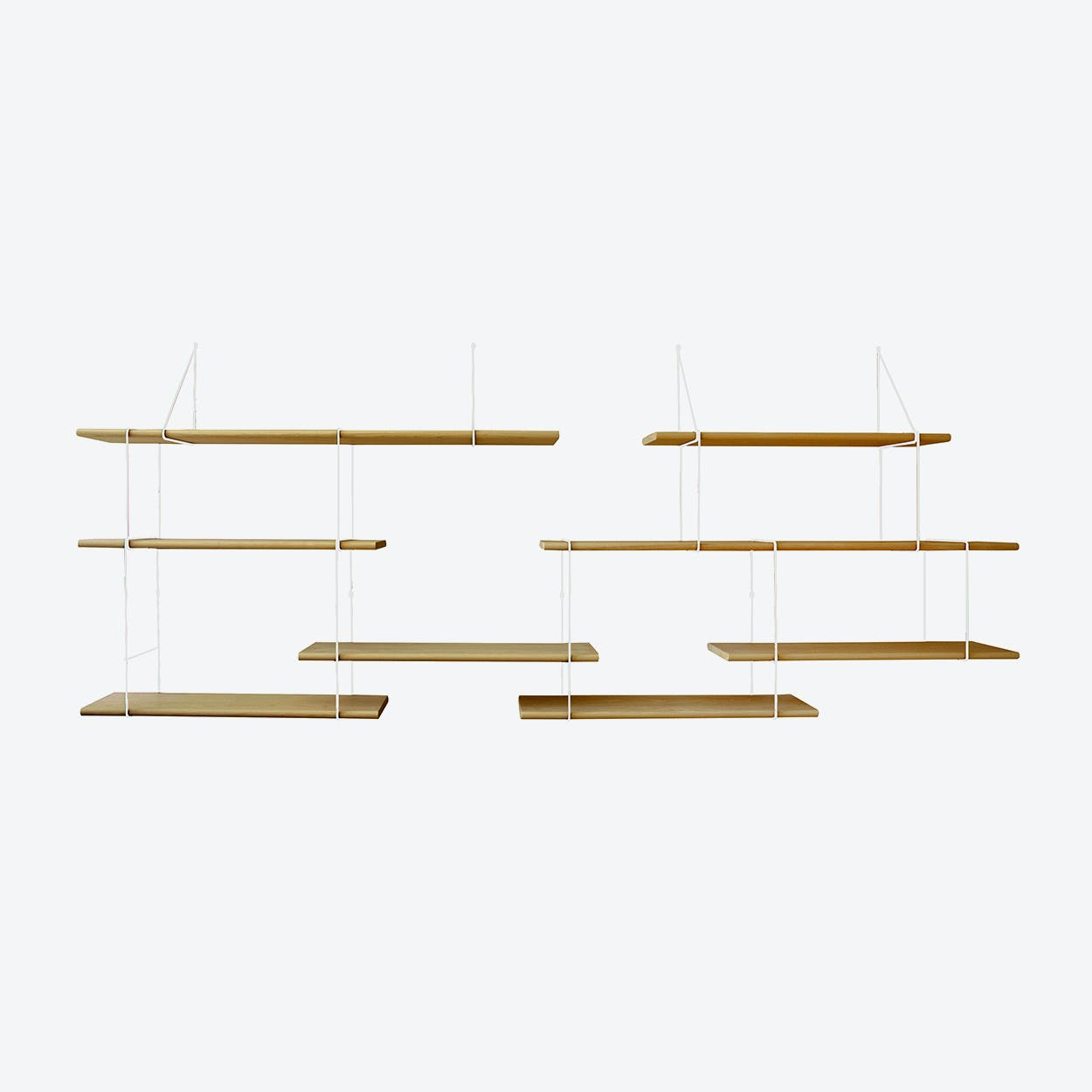Link Shelf Duo - Oak Wood/White Brackets