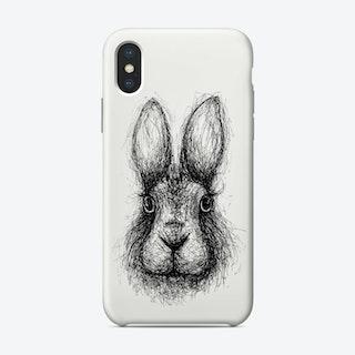 Scribble Rabbit Phone Case