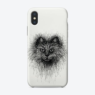 Scribble Cat Phone Case
