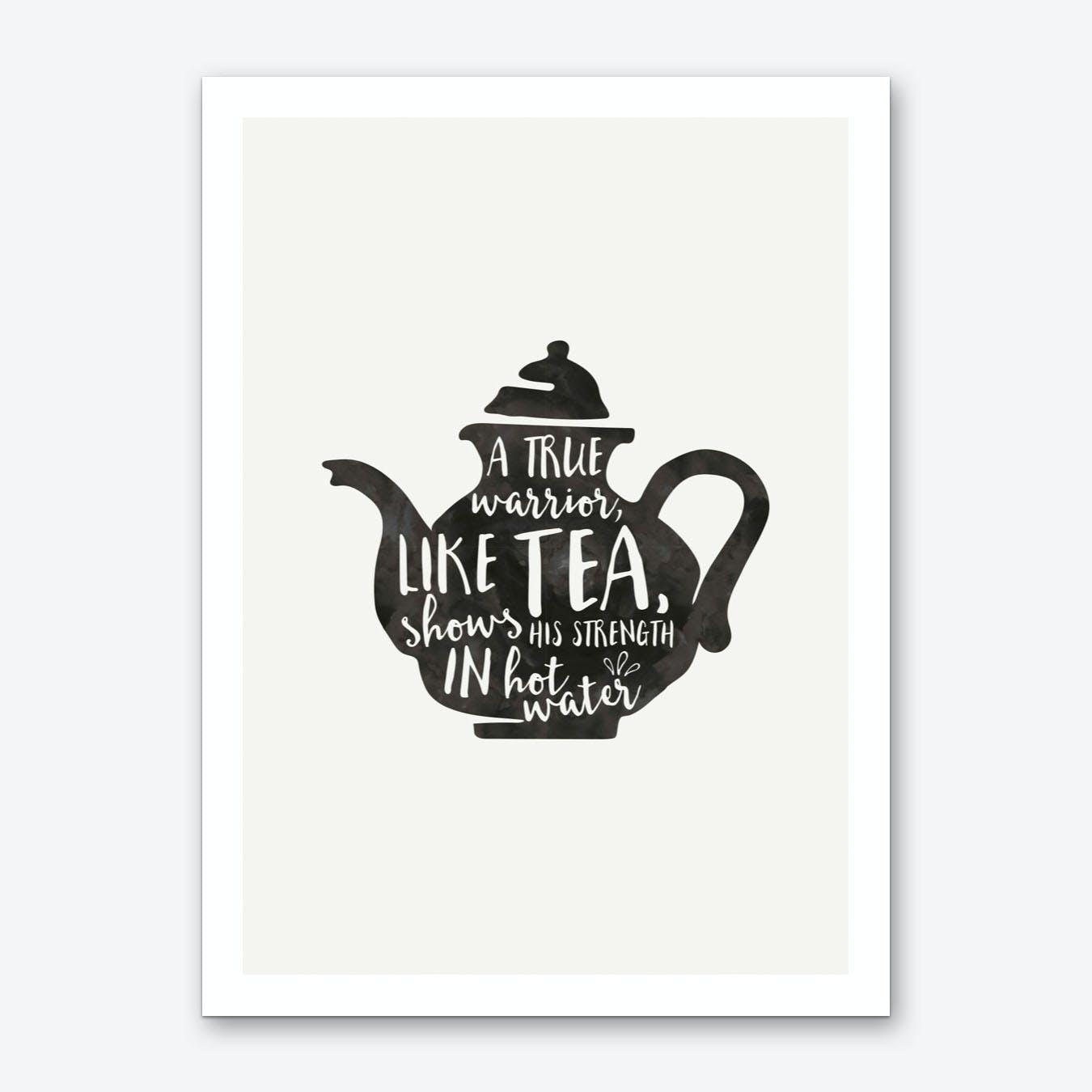 Warrior Tea Art Print