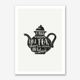 Warrior Tea Art Print