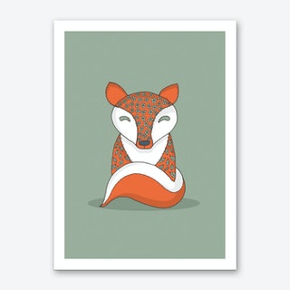 Crafty Fox Art Print