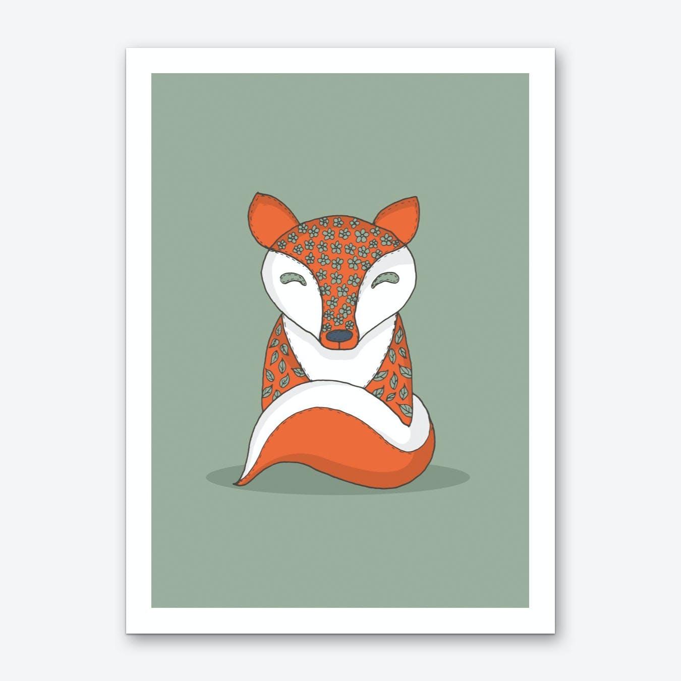 Crafty Fox Art Print