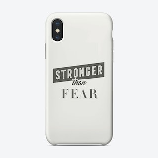 Stronger Than Fear iPhone Case