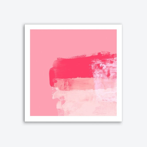 Minimalistic ExpressiveAbstract In Pink Art Print