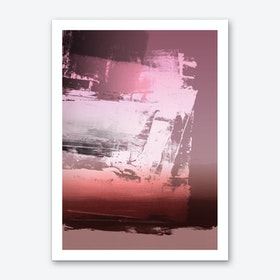 Expressive Abstract In Pink Art Print