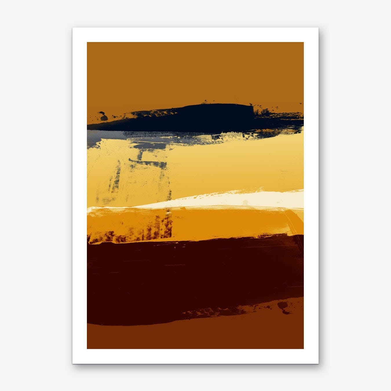 Expressive Marks In Shades Of Brown Art Print