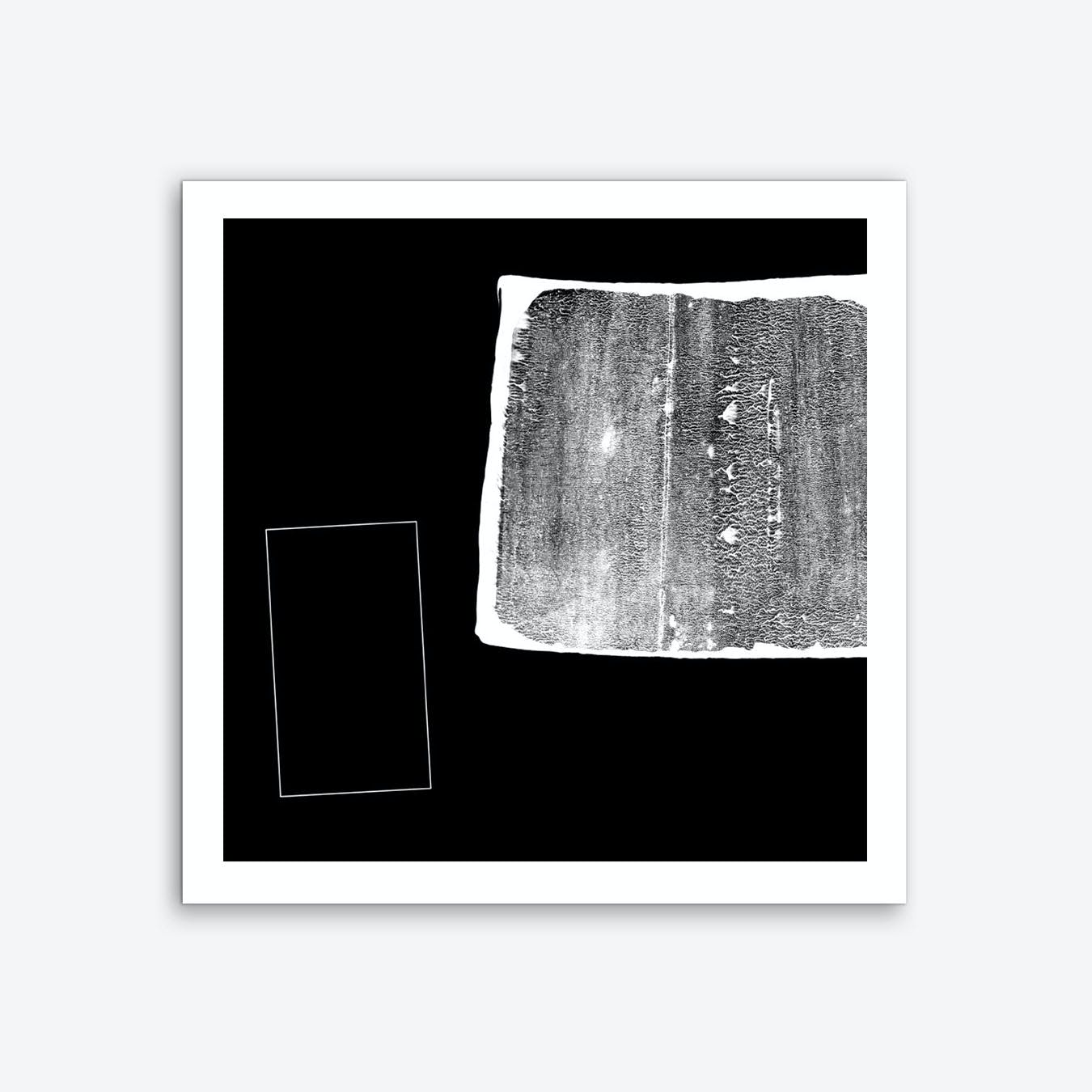 Black White Texture & Rectangle Art Print