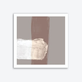 Translucent Strokes Neutrals 1 Art Print